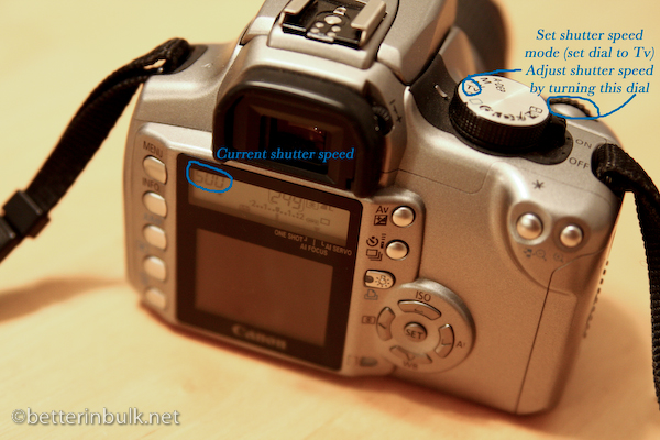 Canon - Shutter Priority Mode