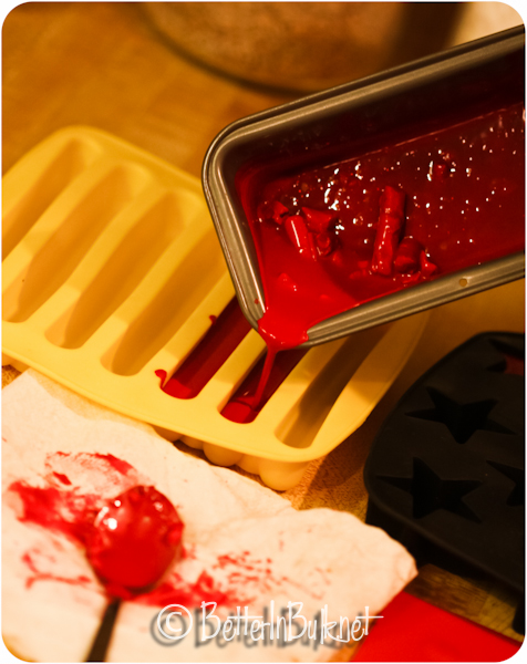 pour wax into molds