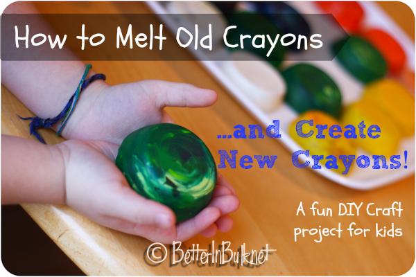 how to melt crayons diy craft