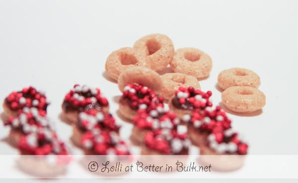 mini donuts for Valentine's Day