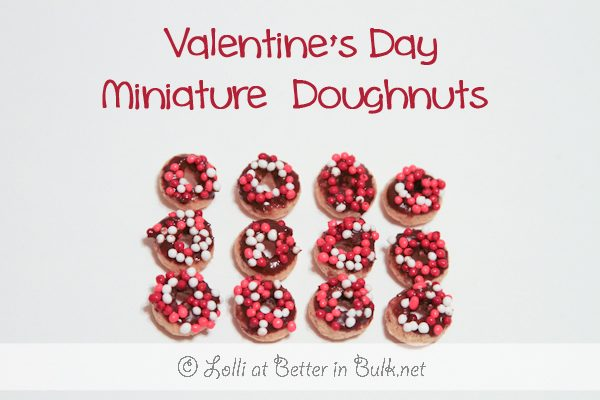 Mini Doughnuts for Valentine's Day