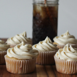 Root Beer Cupcakes with Root Beer Buttercream Frosting