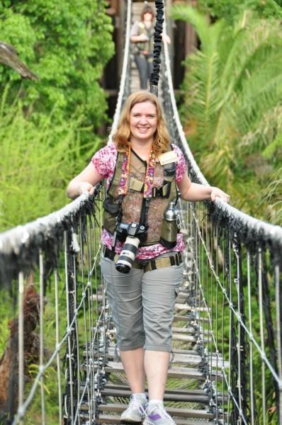 Crossing the bridge - Wild Africa Trek at Disney's Animal Kingdom