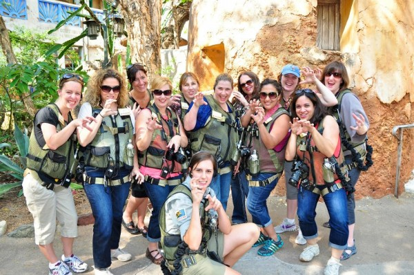 Our group at the beginning of the Wild Africa Trek at Disney's Animal Kingdom
