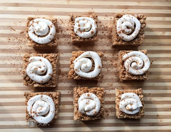 Cinnamon Roll Rice Krispie Treats from Better in Bulk