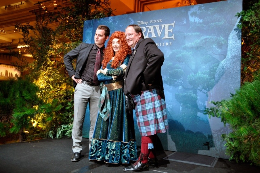 John Lasseter and Merida at the Brave World Premiere