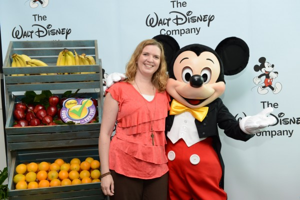 Lolli and Mickey at disney's magic of healthy living press conference