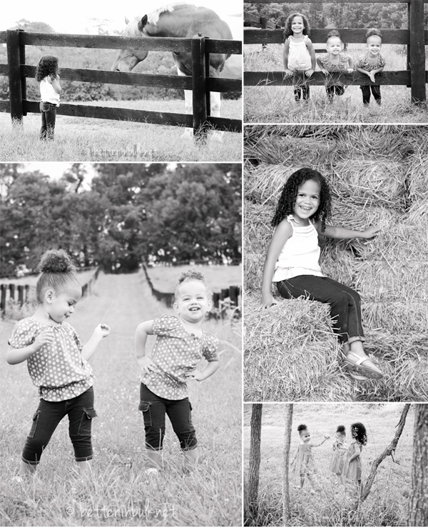 kids at the farm photos in black and white