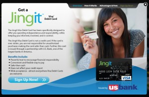 jingit reloadable Visa Card