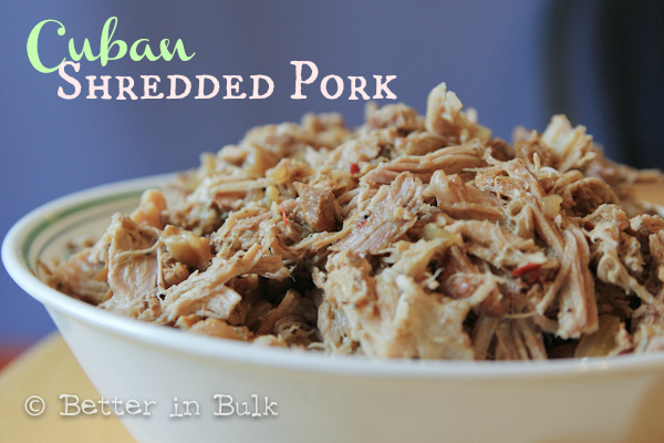 Crock Pot Cuban Shredded Pork Recipe - Better in Bulk