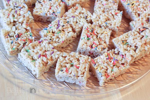 birthday cake rice crispy treats