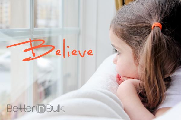 believe - little girl looking out window