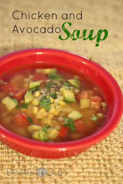 chicken and avocado soup recipe