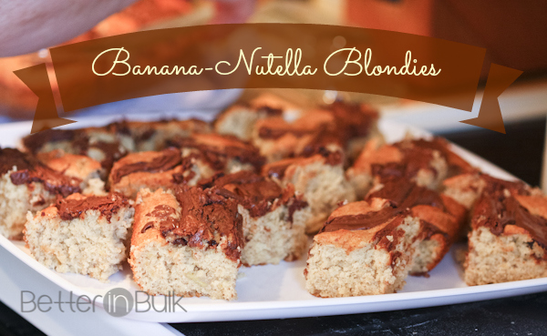 World Nutella Day - banana-nutella blondies