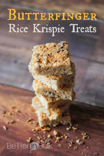 butterfinger rice krispie treats recipe