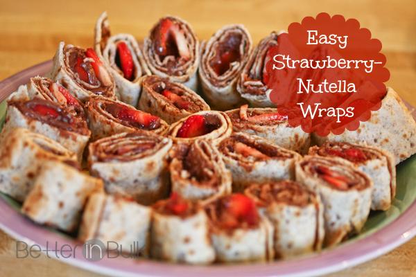 World Nutella Day - strawberry-nutella wraps