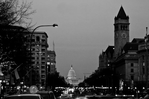 washington DC in black and white