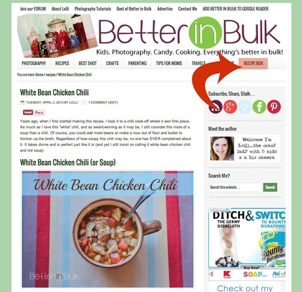 Ziplist recipe box on Better in bulk