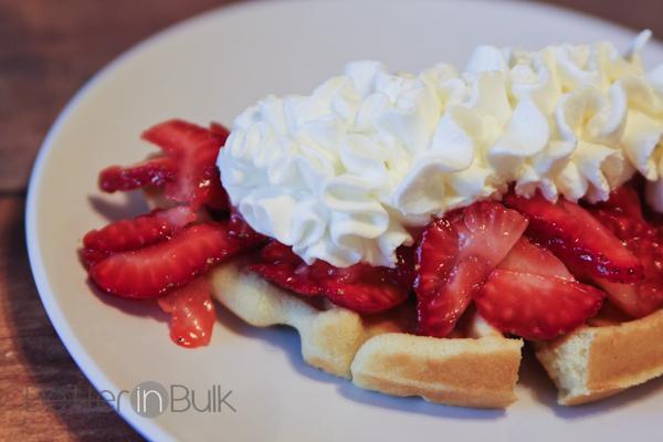 waffle iron strawberry shortcake