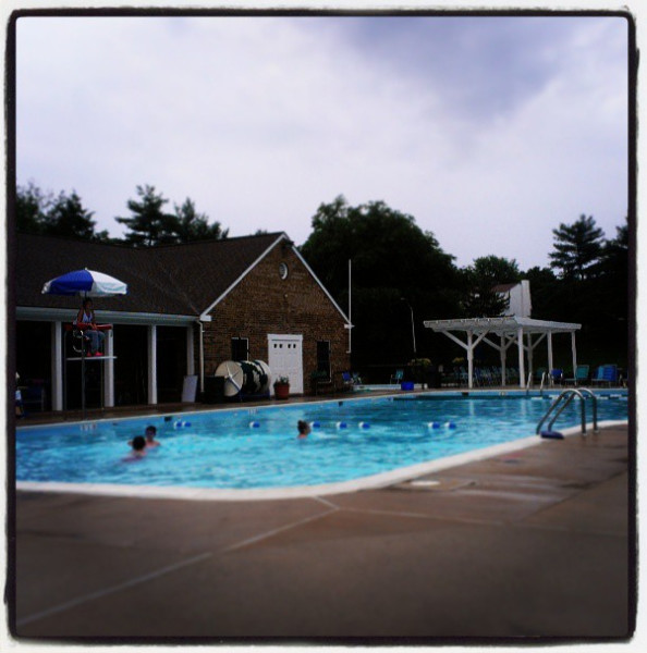 The kids had the pool to themselves when they insisted on going during a rain storm (don't worry--no lightning!)
