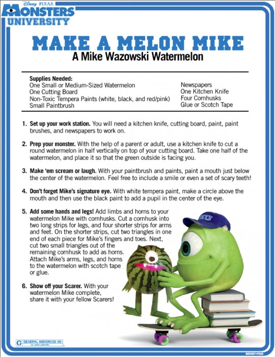 Monsters University BBQ recipes page 4