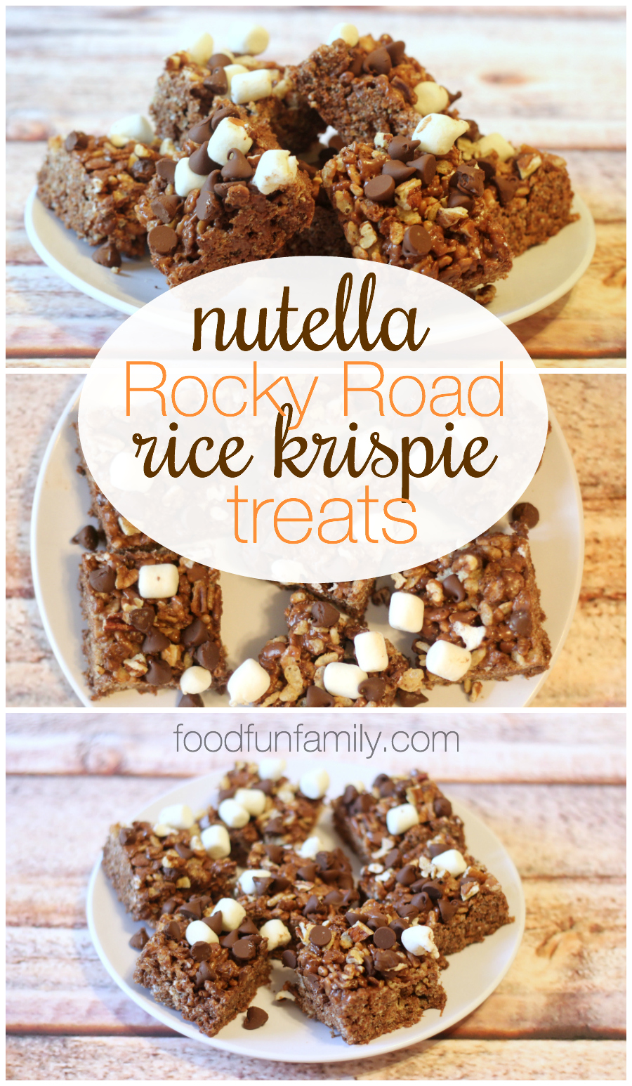 This recipe for Nutella rocky road rice krispie treats tastes so rich ...