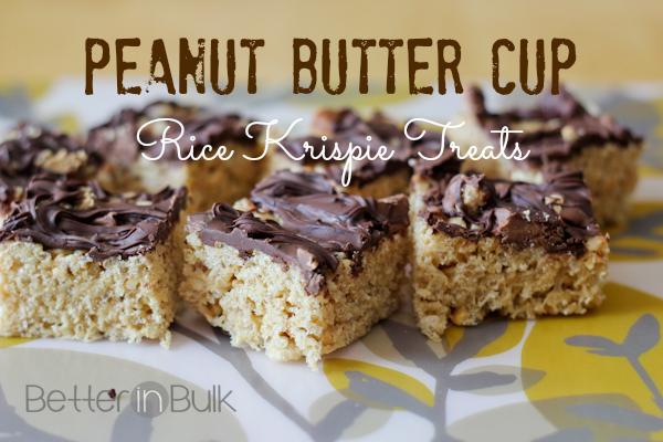 Peanut Butter Cup Rice Krispie Treats - Better in Bulk