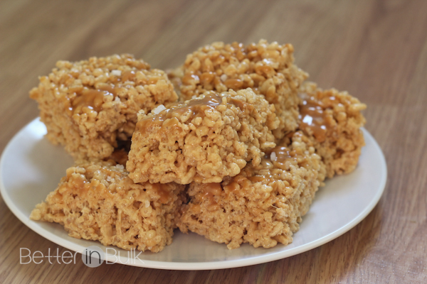 sea salt caramel rice krispie treats