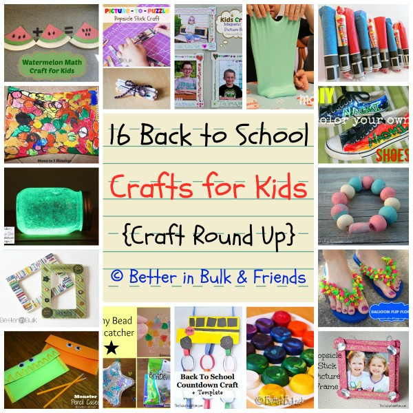 16 back to school crafts for kids round up
