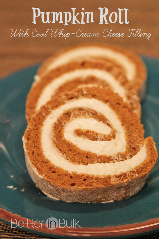 Pumpkin Roll With Cream Cheese Filling Cake