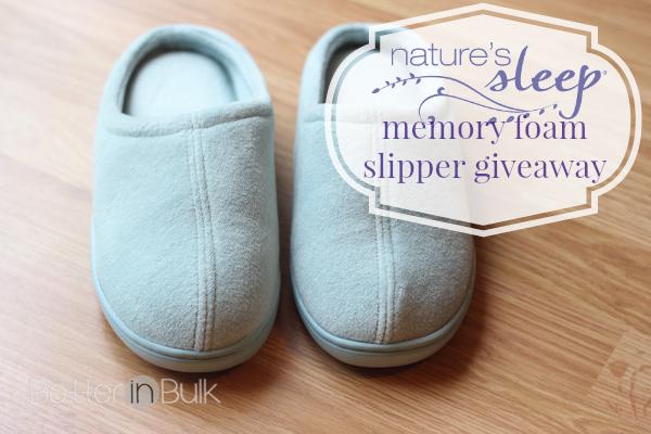 Nature's Sleep Memory Foam Slippers Giveaway
