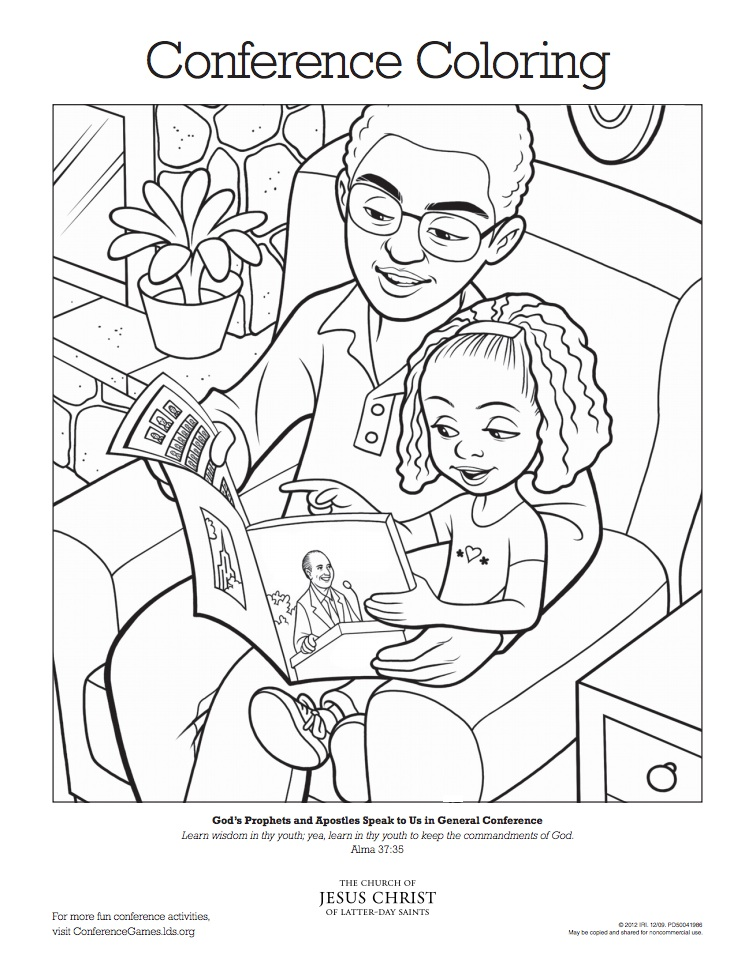 Lds Follow The Prophet Coloring Page