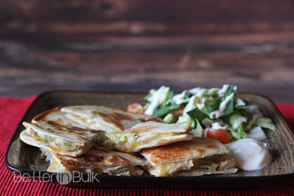 15-minute recipe for chicken quesadillas with hatch green chile cheese ...