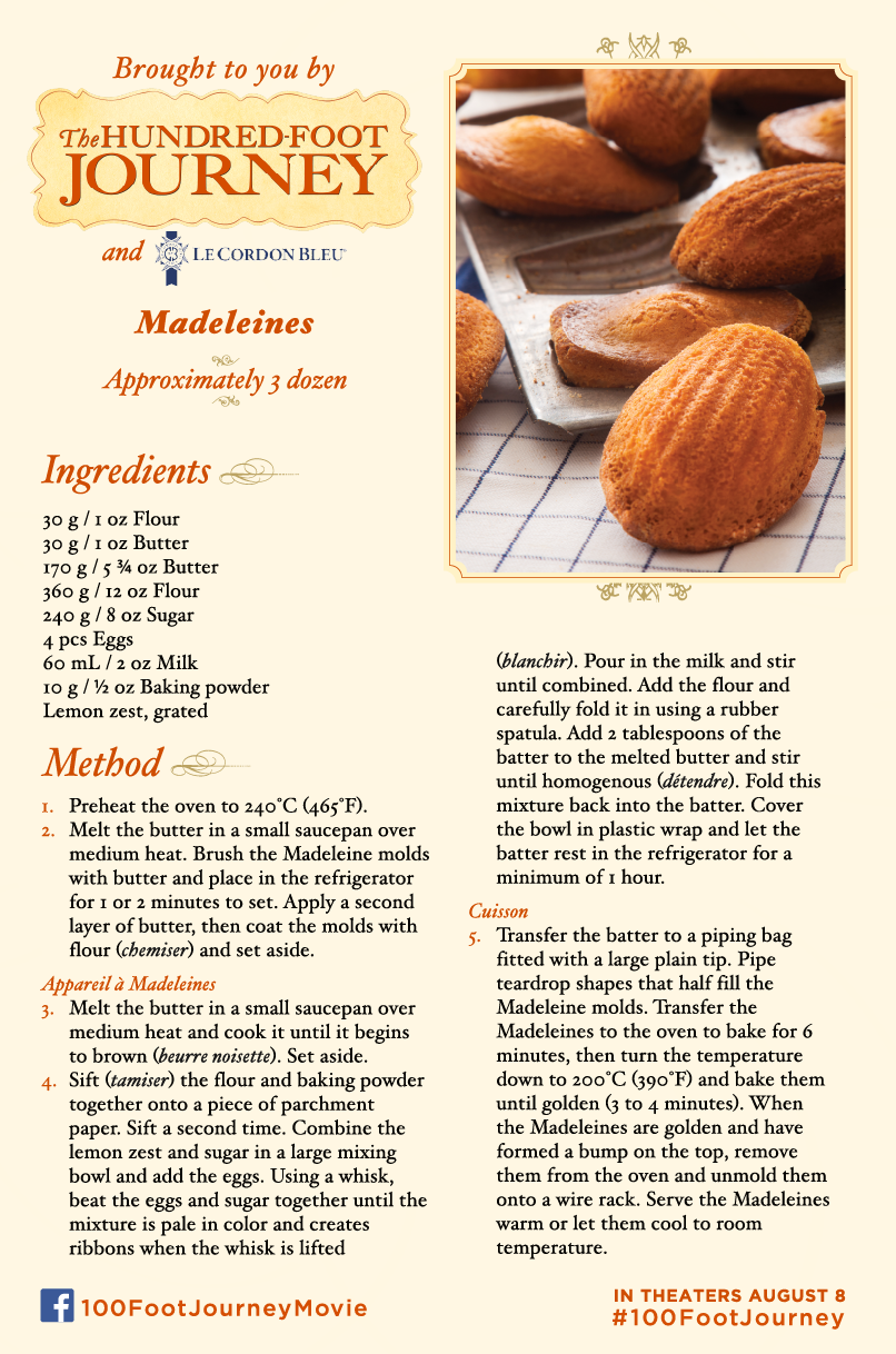 Madeleines cookie recipe
