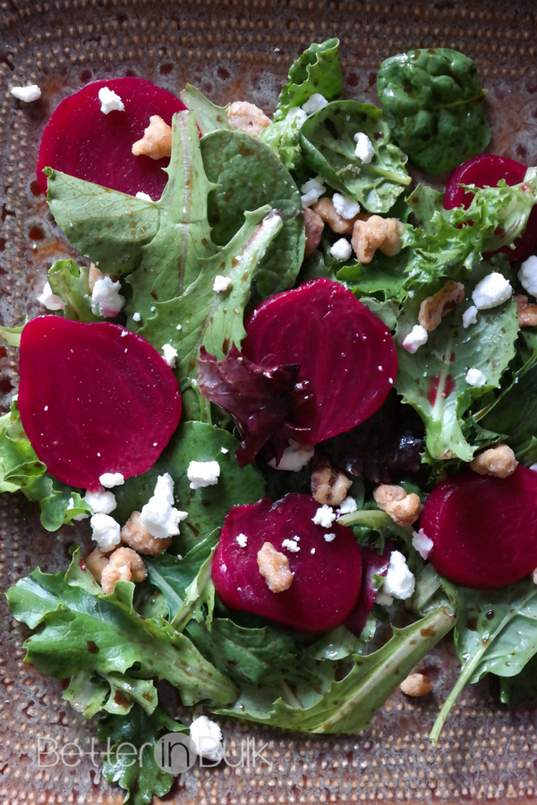 Spinach Salad With Beets And Walnuts Recipe — Dishmaps