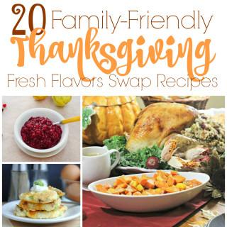 20 Family-Friendly Thanksgiving Recipes #FlavorsSwap