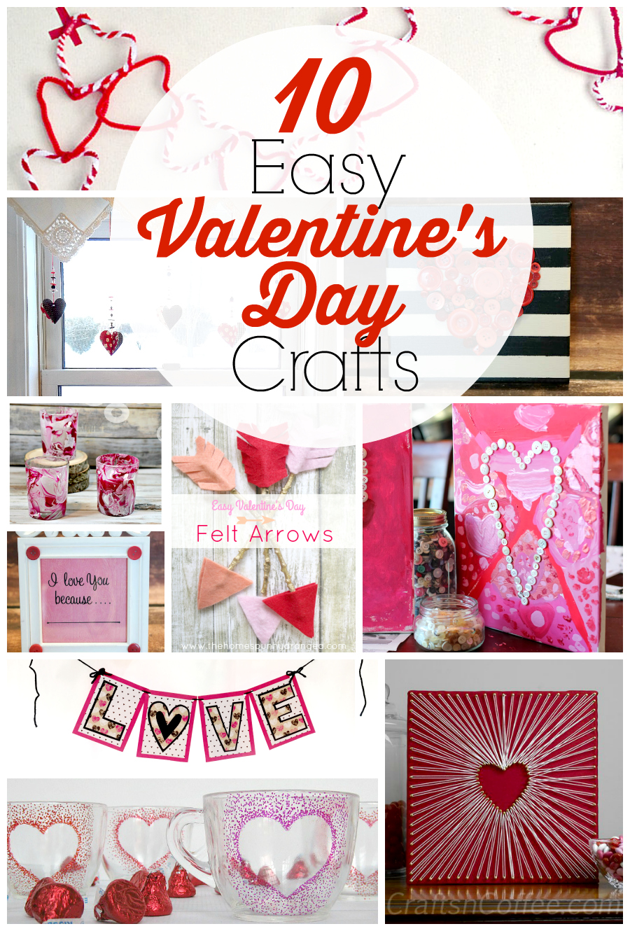 10 easy valentine 39 s day crafts for adults food fun family for Diy craft projects easy