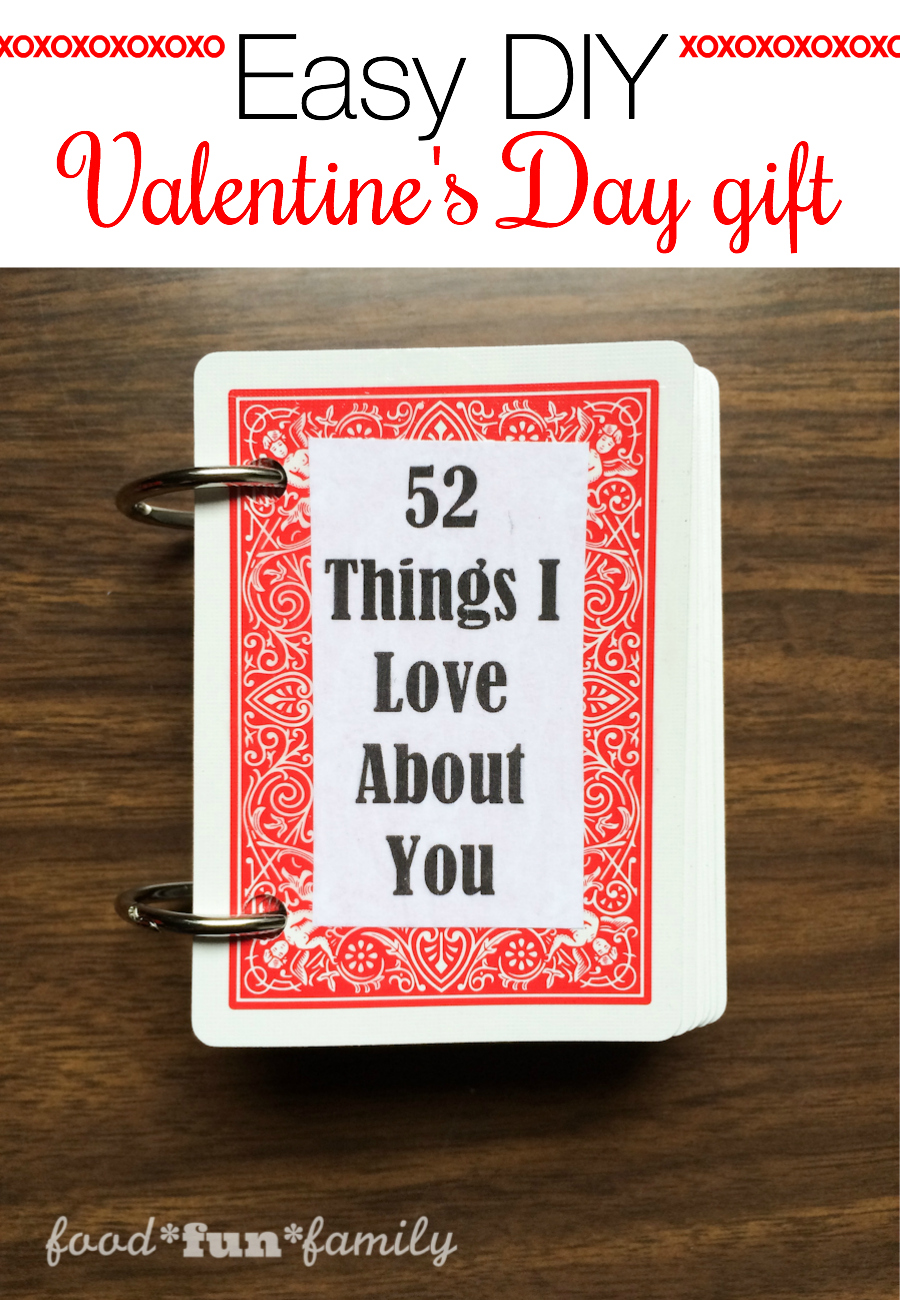 52 Things I Love About You Easy Diy Valentine 39 S Day Gift
