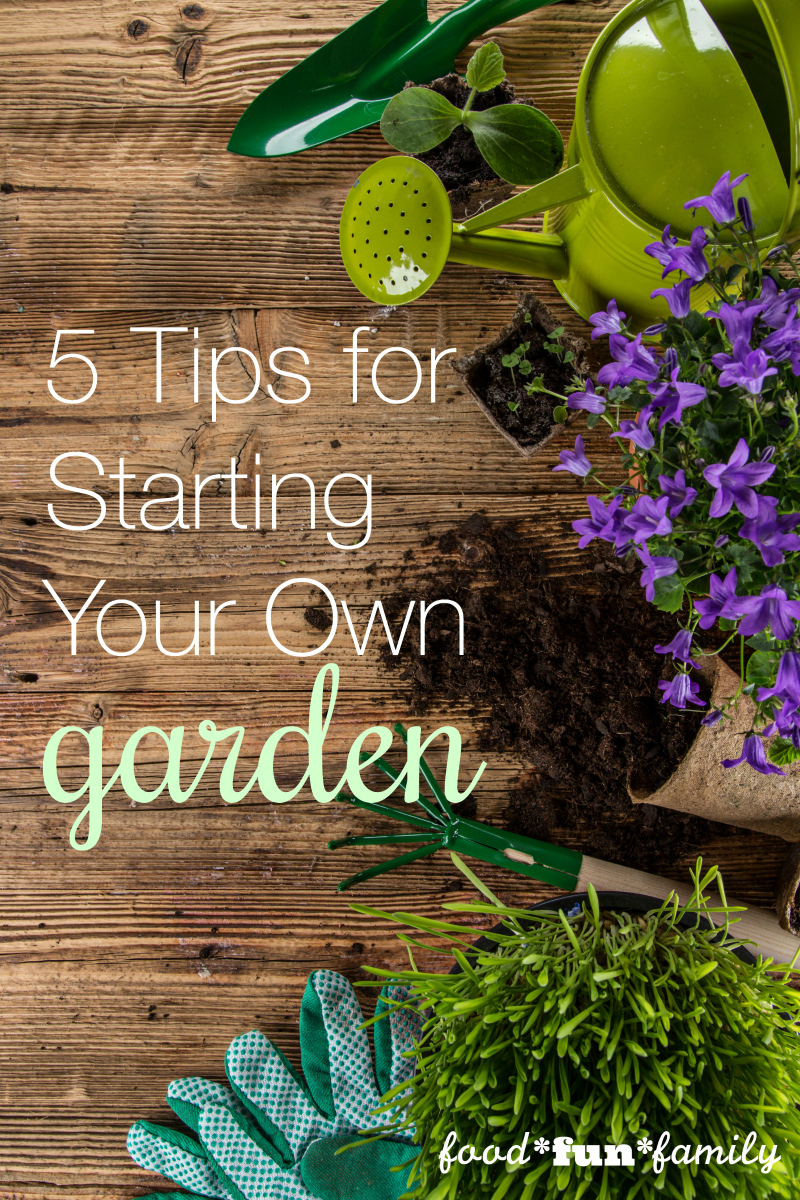 5 Tips For Starting Your First Garden Food Fun Family