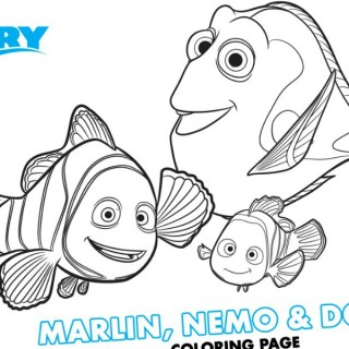 Finding Dory Coloring Pages feature