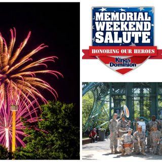 Kings Dominion Memorial Day salute